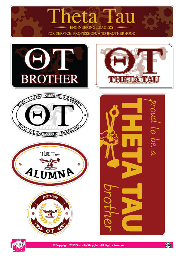 Theta Tau <br> Family Stickers