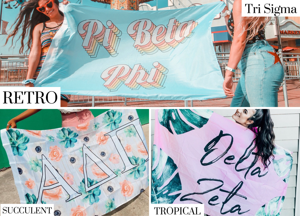 Tri Sigma Sorority Flags