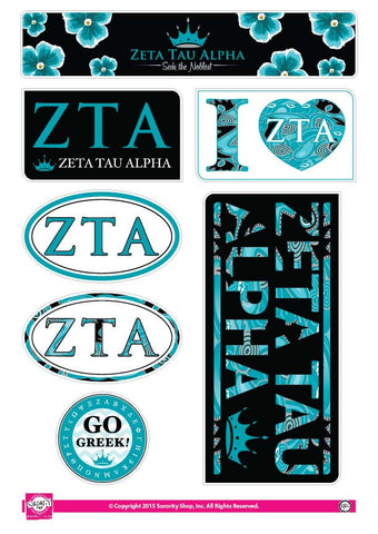 Zeta Tau Alpha <br> Lifestyle Stickers