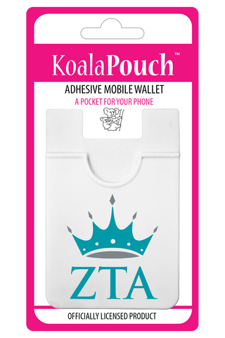 Zeta Tau Alpha <br> Koala Pouch<br>Adhesive wallet for your phone