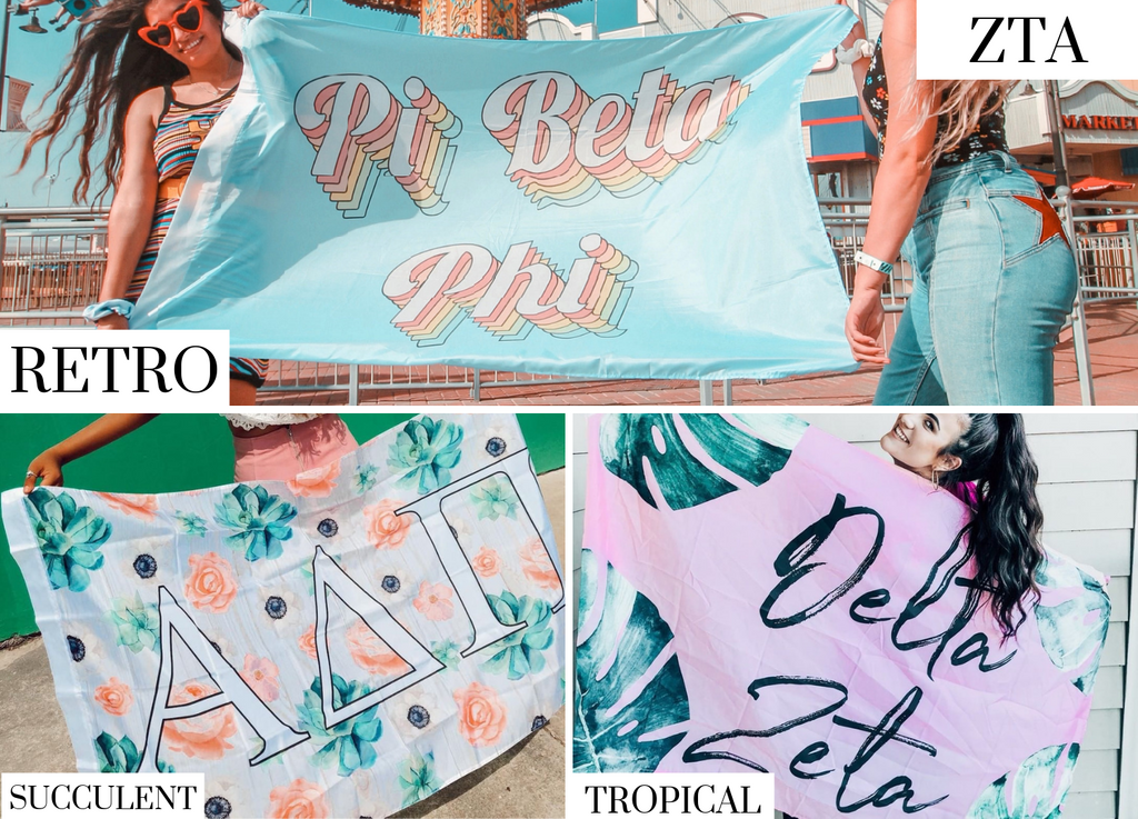 Zeta Tau Alpha Sorority Flags