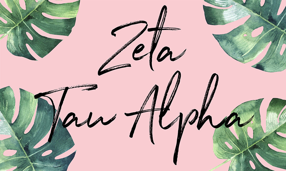 Zeta Tau Alpha Tropical Flag