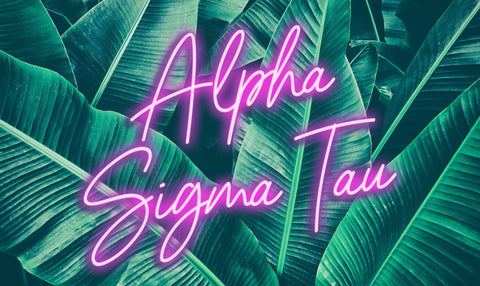 Alpha Sigma Tau Neon Palm Flag