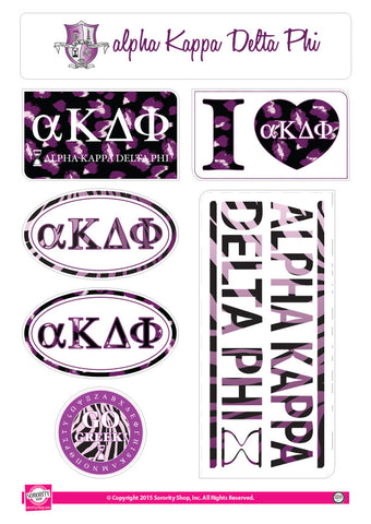 Alpha Kappa Delta Phi <br> Animal Print Stickers