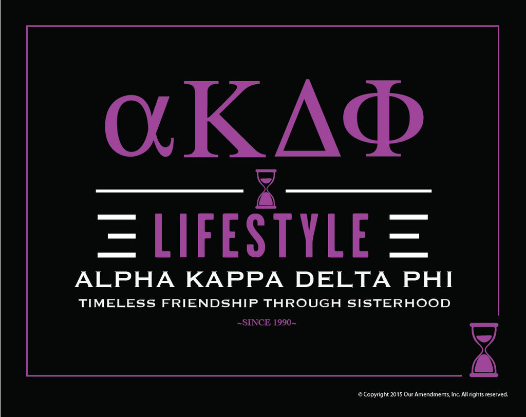 Alpha Kappa Delta Phi <br> Lifestyle Poster
