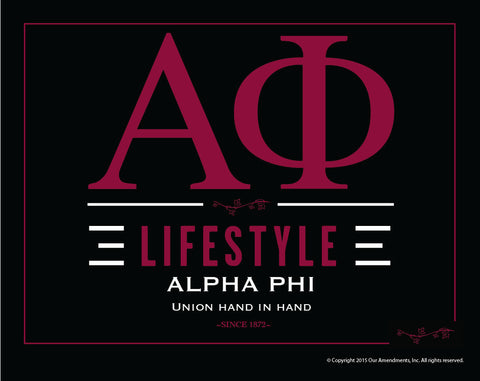 Alpha Phi <br>Lifestyle Poster