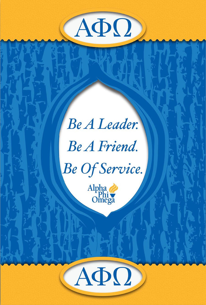 Alpha Phi Omega <br>Motto Poster