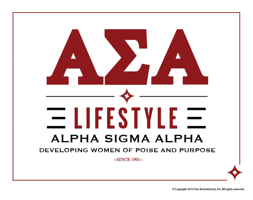 Alpha Sigma Alpha <br> Lifestyle Poster