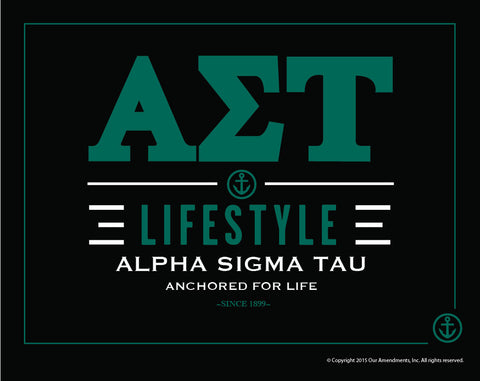 Alpha Sigma Tau <br> Lifestyle Poster