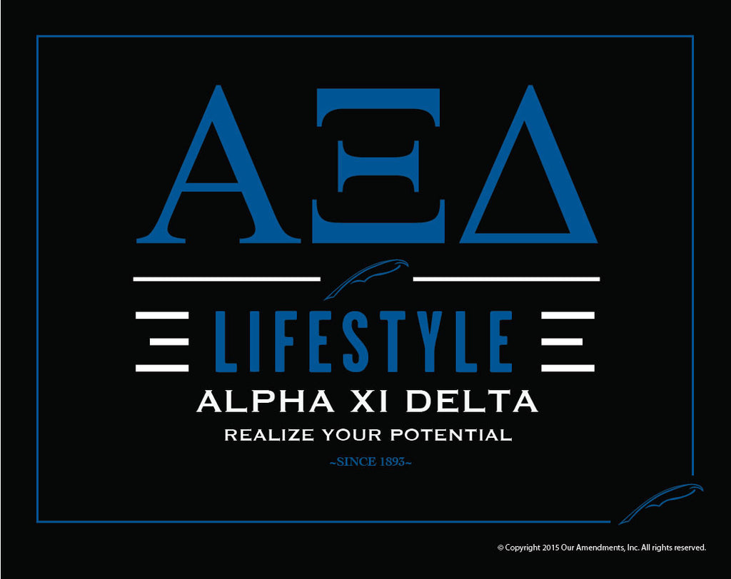 Alpha Xi Delta <br> Lifestyle Poster
