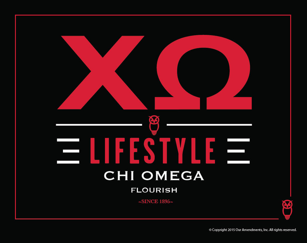 Chi Omega <br> Lifestyle Poster
