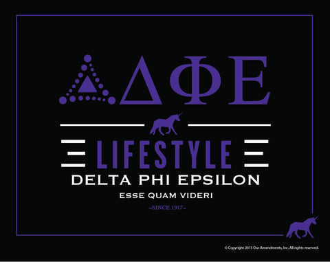 Delta Ph Epsilon <br> Lifestyle Poster