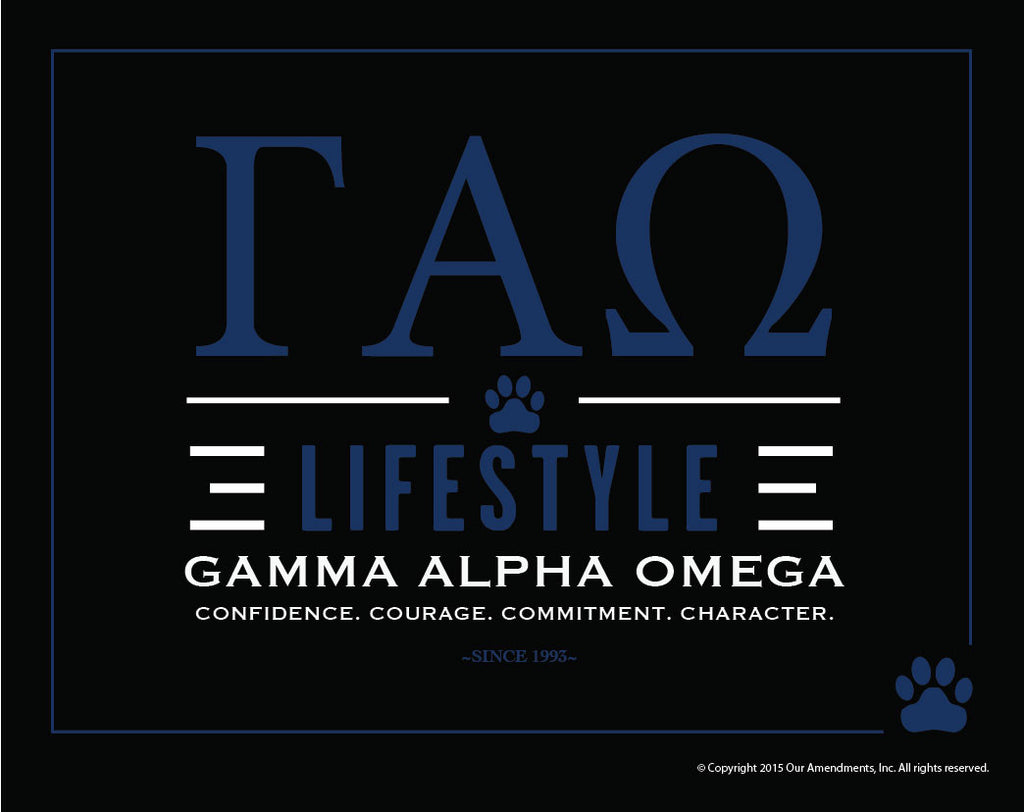 Gamma Alpha Omega <br> Lifestyle Poster