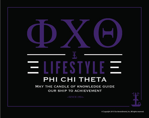 Phi Chi Theta <br>Lifestyle Poster