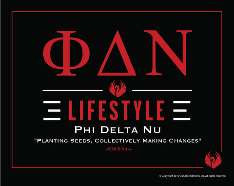 Phi Delta Nu <br> Lifestyle Poster