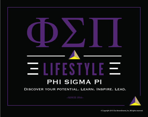 Phi Sigma Pi <br> Lifestyle Poster