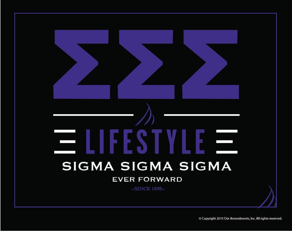 Sigma Sigma Sigma <br> Lifestyle Poster