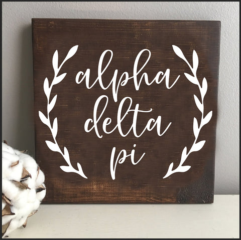 Alpha Delta Pi Wooden Wall Art