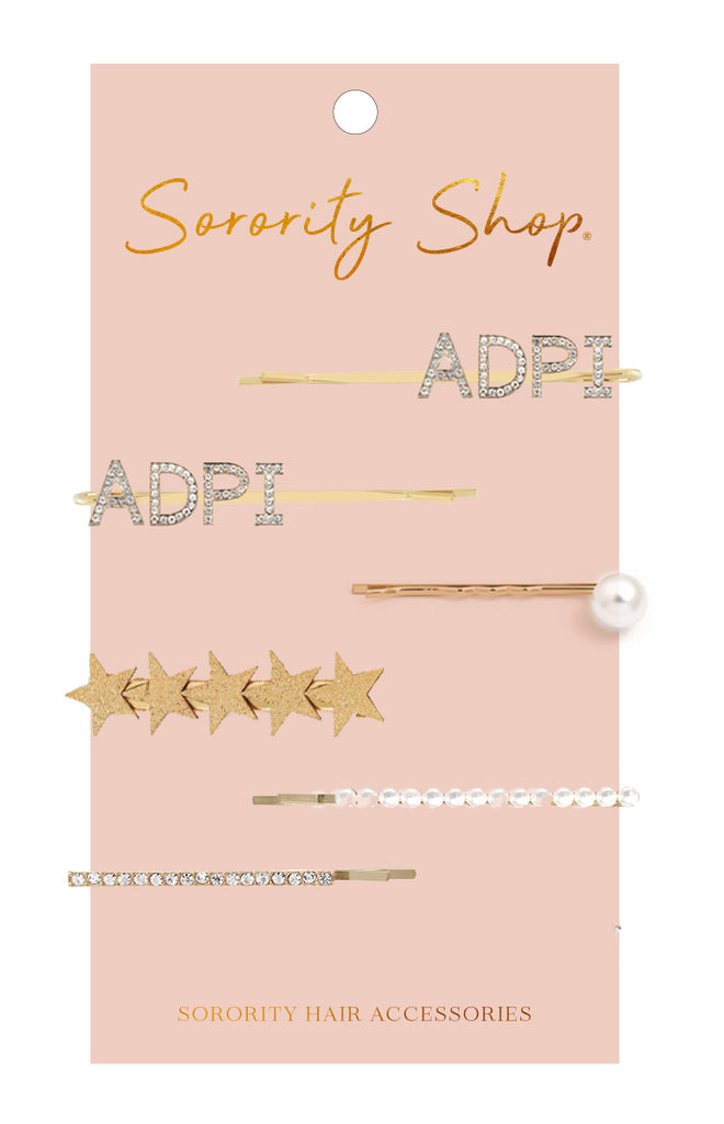 Alpha Delta Pi Sorority Hair Clips