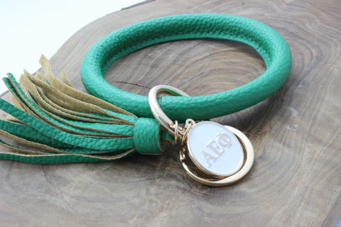 Alpha Epsilon Phi Bangle Sorority Keychain