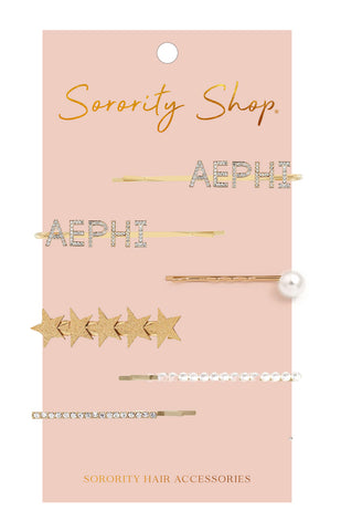 Alpha Epsilon Phi Sorority Hair Clips