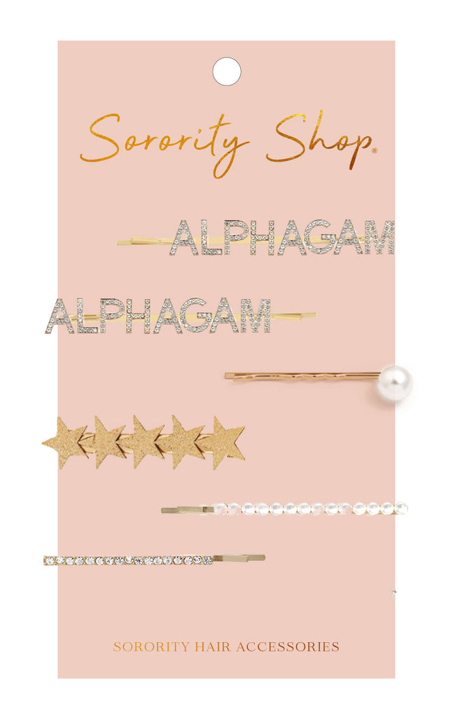 Alpha Gamma Delta Sorority Hair Clips