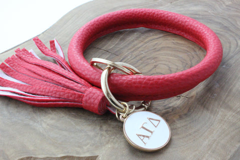 Alpha Gamma Delta Bangle Sorority Keychain