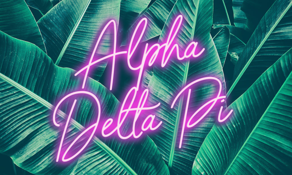 Alpha Delta Pi Neon Palm Flag