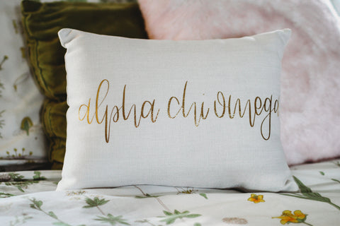 Alpha Chi Omega Throw Pillow