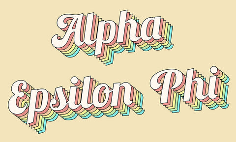 Alpha Epsilon Phi Retro Flag