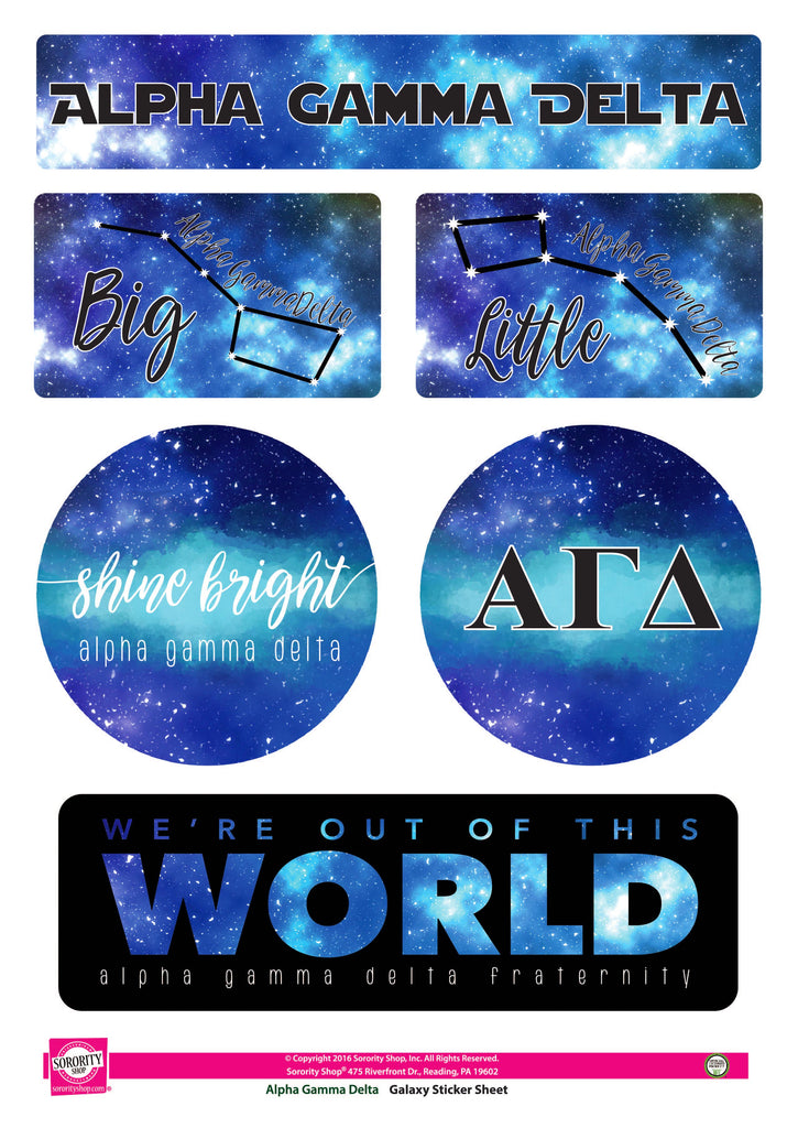 Alpha Gamma Delta Galaxy Stickers