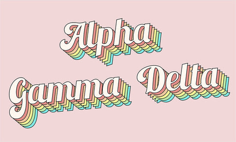 Alpha gamma delta retro flag