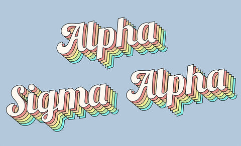 Alpha Sigma Alpha Retro Flag