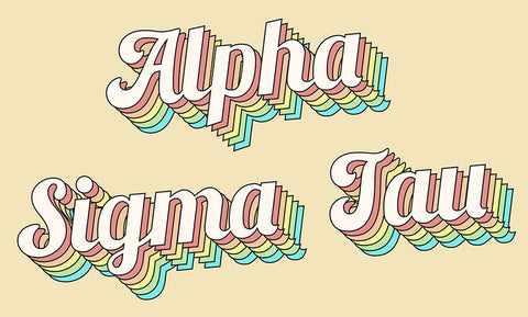 Alpha Sigma Tau retro flag