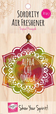 Alpha Chi Omega <br> Mandala Air Freshener <br> 2/Package