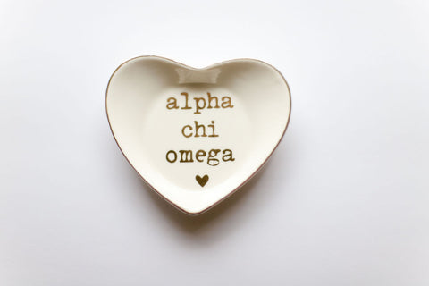 Alpha Chi Omega Ceramic Ring Dish