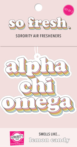 Alpha Chi Omega Retro Air Freshener