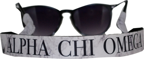 Alpha Chi Omega <br> Sunglass Strap <br> Marble Theme