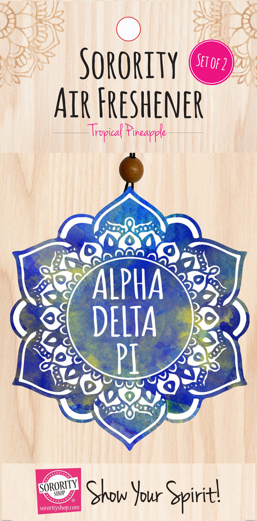 Alpha Delta Pi <br> Mandala Air Freshener <br> 2/Package