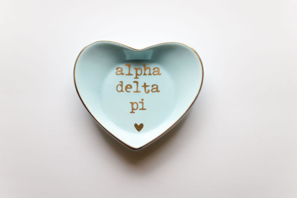 Alpha Delta Pi Ceramic Ring Dish
