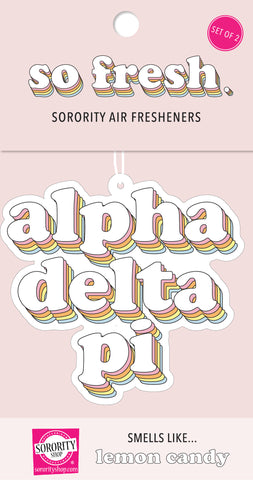 Alpha Delta Pi Retro Air Freshener