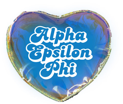 Alpha Epsilon Phi Heart Shaped Makeup Bag