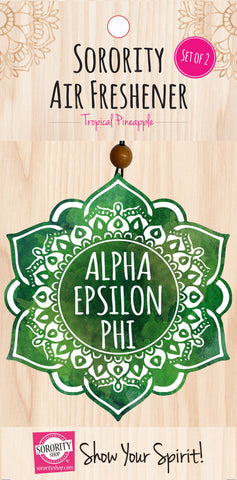 Alpha Epsilon Phi <br> Mandala Air Freshener <br> 2/Package