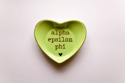 Alpha Epsilon Phi Ceramic Ring Dish