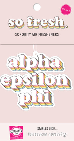 Alpha Epsilon Phi Retro Air Freshener