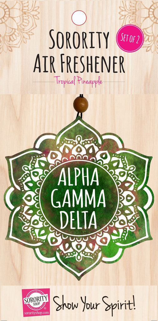 Alpha Gamma Delta <br> Mandala Air Freshener <br> 2/Package
