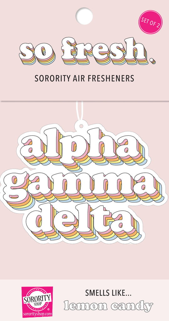 Alpha Gamma Delta Retro Air Freshener