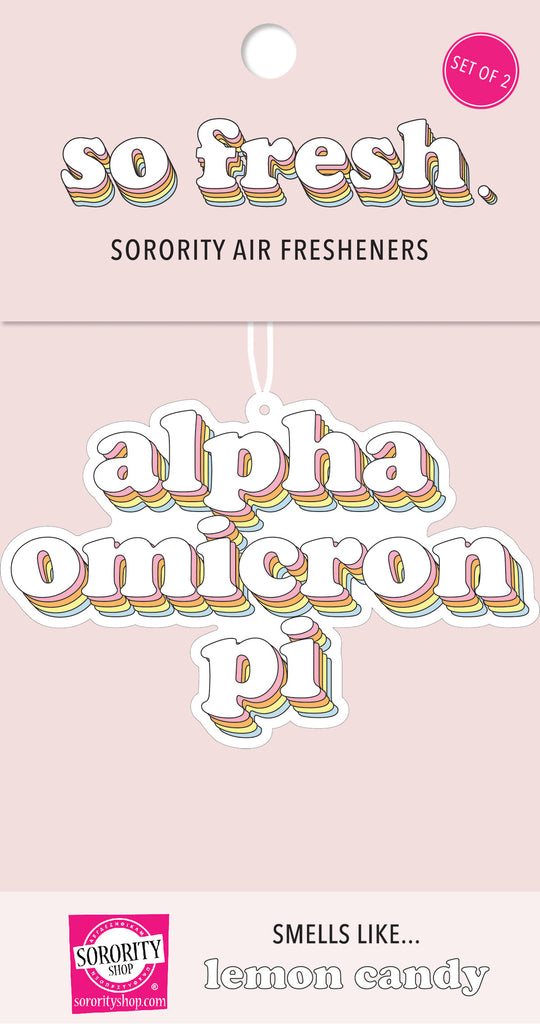 Alpha Omicron Pi Retro Air Freshener