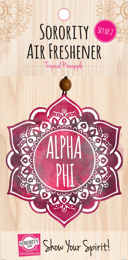 Alpha Phi <br> Mandala Air Freshener <br> 2/Package