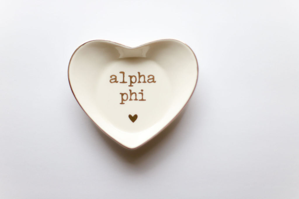 Alpha Phi Ceramic Ring Dish